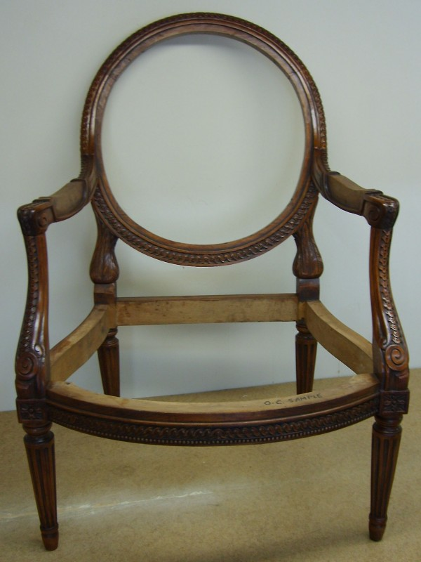 The basic chair frame from the customer