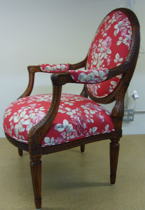 Final upholstery with custom selected fabric